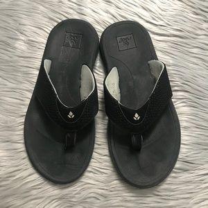 Reef Men's Sandals Bottle Black Flip Flops Size 8